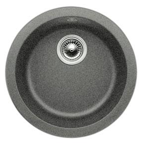 Blanco 511632 Rondo Round Drop In Silgranit Bar Sink   Anthracite