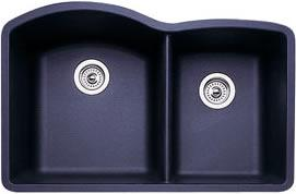 Blanco 440179 Diamond 1-3/4 Bowl Silgranit II Undermount Kitchen Sink - Anthracite