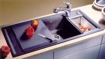 Blanco 440841 Silgranit Series Blancoaxia Double Bowl Drop-In Kitchen Sink - Anthracite