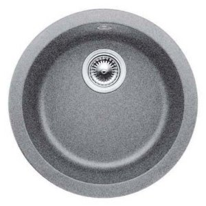 Blanco 513382 Blancorondo Round Drop-In Silgranit Bar Sink - Metallic Gray