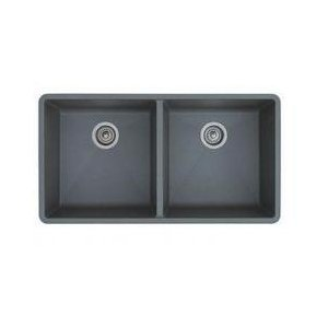 Blanco 516319 Precis 16'' Equal Double Bowl Kitchen Sinks Undermount - Metallic Gray