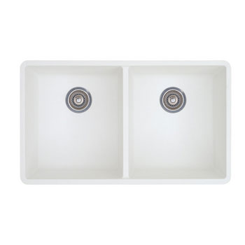 Blanco 516320 Precis 16'' Equal Double Bowl Kitchen Sinks Undermount - White