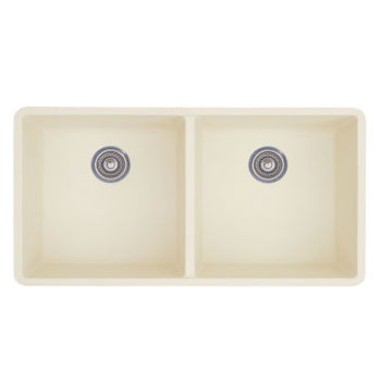 Blanco 516321 Precis 16'' Equal Double Bowl Kitchen Sinks Undermount - Biscuit