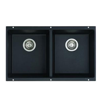 Blanco 516322 Precis 16 in Equal Double Bowl Kitchen Sinks Undermount - Anthracite