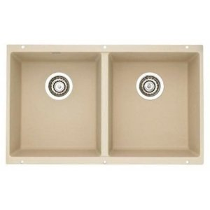 Blanco 517107 Precis 16'' Equal Double Bowl Kitchen Sinks Undermount - Biscotti