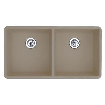 Blanco 517678 Precis 16'' Equal Double Bowl Kitchen Sinks Undermount - Truffle