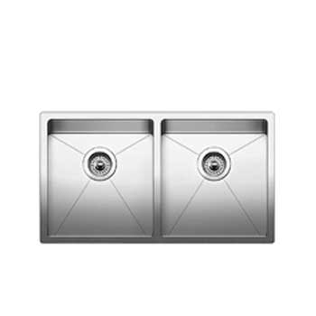 Blanco 519549 Quatrus R15 Equal Double Bowl Undermount - Satin