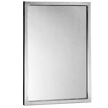 Bobrick B-165 1836 18 inch  x 36 inch  Channel-Framed Mirror