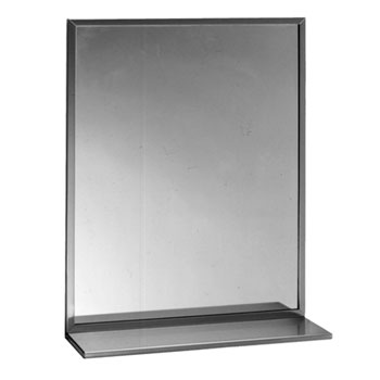 Bobrick B-166 2436 24X36 Chanel-Framed Mirror/Shelf Combination