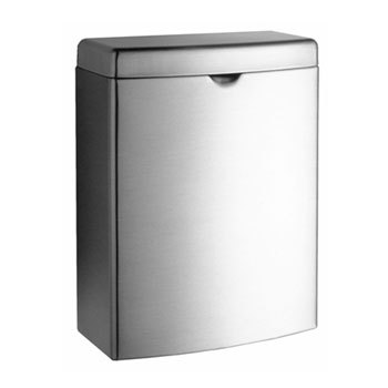 Bobrick B-270 Contura Series Surface-Mounted Sanitary Napkin Disposal - Satin