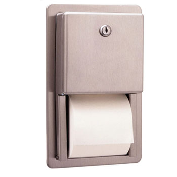 Bobrick B-3888 Classic Series Recessed Multi-Roll Toilet Tissue Dispenser - Satin