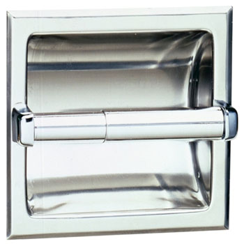 Bobrick B-667 Recessed Toilet Tissue Dispensers For Single Roll - Chrome