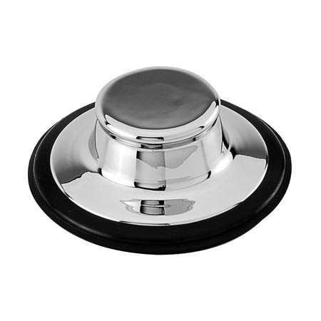 Brasstech 113 Garbage Disposal Stopper - Black (Pictured in Polished Chrome)