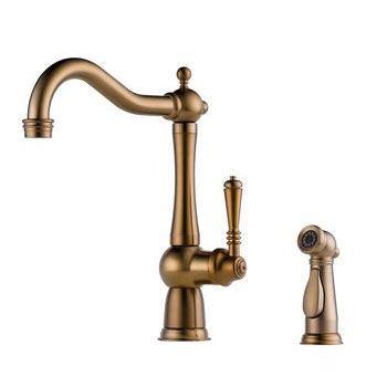 Brizo 61136LF-BZ Tresa Single Handle Kitchen Faucet with Side Spray - Brushed Bronze