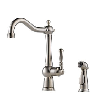 Brizo 61136LF-SS Tresa Single Handle Kitchen Faucet with Side Spray - Stainless