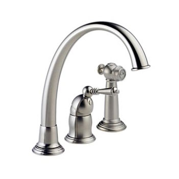 Brizo 61201-SS136 Providence Classic Single Handle Kitchen Faucet with Spray - Stainless Steel