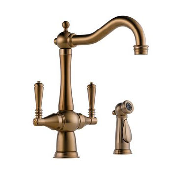 Brizo 62136LF-BZ Tresa Two Handle Kitchen Faucet with Side Spray - Brushed Bronze