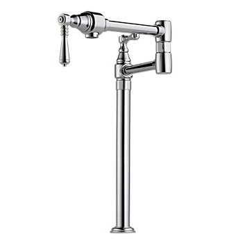 Brizo 62710LF-PN Traditional Deck Mounted Pot Filler - Polished Nickel (Pictured in Chrome)