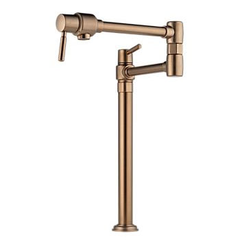 Brizo 62720LF-BZ Euro Deck Mounted Pot Filler - Brushed Bronze