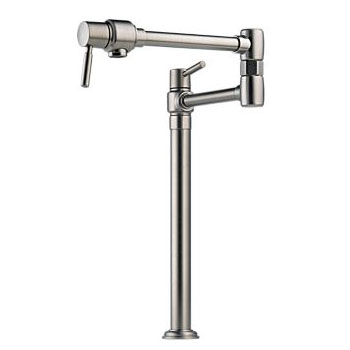 Brizo 62720LF-SS Euro Deck Mounted Pot Filler - Stainless Steel