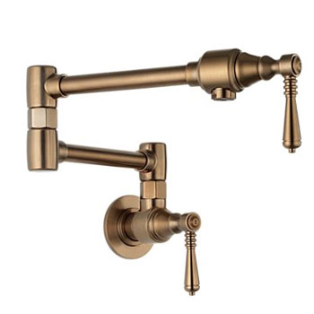 Brizo 62810LF-BZ Traditional Wall Mounted Pot Filler - Brushed Bronze