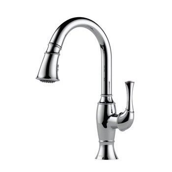 Brizo 63003LF-PC Talo Single Handle Pull Down Kitchen Faucet - Chrome