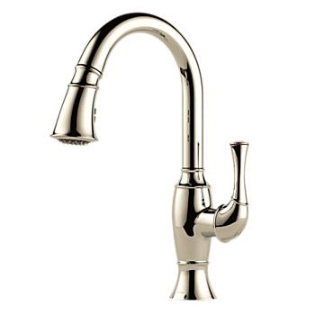Brizo 63003LF-PN Talo Single Handle Pull Down Kitchen Faucet - Polished Nickel