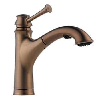 Brizo 63005LF-BZ Baliza Single Handle Pull Out Kitchen Faucet - Brushed Bronze
