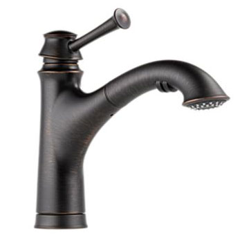 Brizo 63005LF-RB Baliza Single Handle Pull Out Kitchen Faucet - Venetian Bronze