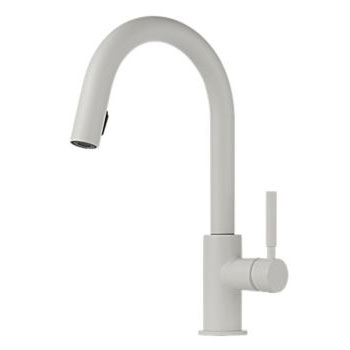 Brizo 63020LF-MW Solna Single Handle Pull-Down Kitchen Faucet - Matte White