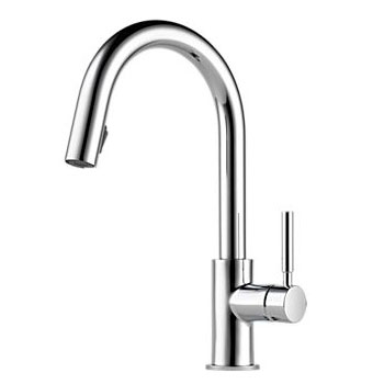 Brizo 63020LF-PC Solna Single Handle Pull-Down Kitchen Faucet - Chrome