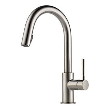Brizo 63020LF-SS Solna Single Handle Pull-Down Kitchen Faucet - Stainless