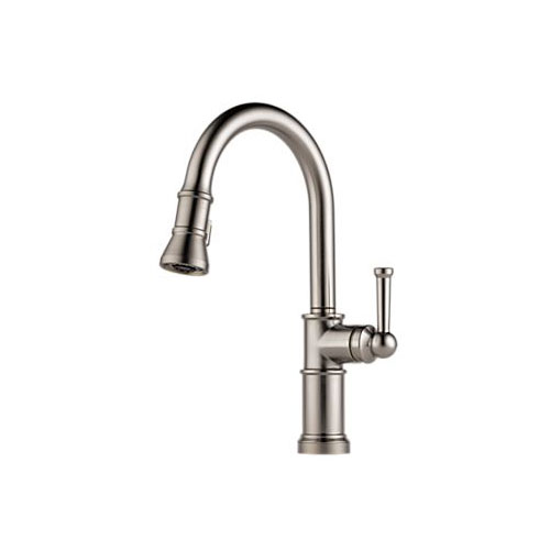 Brizo 63025LF-SS Artesso Single Handle Pulldown Kitchen Faucet - Stainless