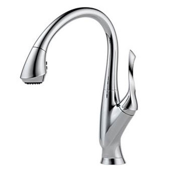 Brizo 63052LF-PC Belo Single Handle Pull-Down Kitchen Faucet - Chrome