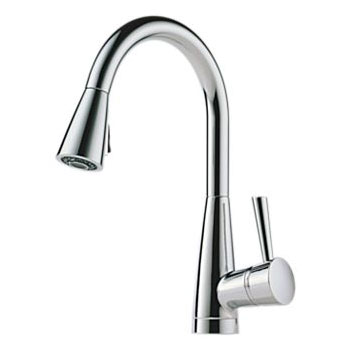 Brizo 63070LF-PC Venuto Single Handle Pull Down Kitchen Faucet - Chrome
