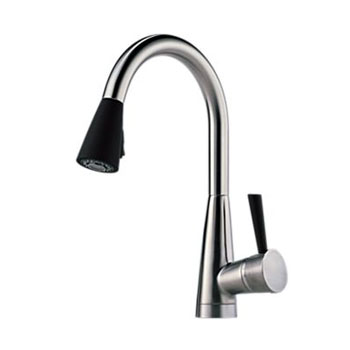 Brizo 63070LF-SSST Venuto Single Handle Pull Down Kitchen Faucet - Stainless/Black