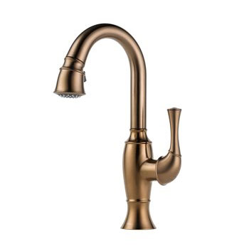 Brizo 63903LF-BZ Talo Single Handle Pull Down Bar/Prep Faucet - Brushed Bronze