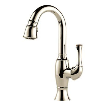 Brizo 63903LF-PN Talo Single Handle Pull Down Bar/Prep Faucet - Polished Nickel