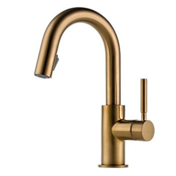 Brizo 63920LF-BZ Solna Single Handle Pulldown Bar/Prep Faucet - Brushed Bronze