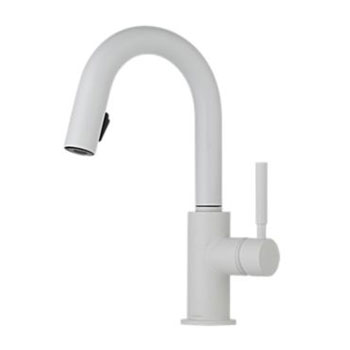 Brizo 63920LF-MW Solna Single Handle Pulldown Bar/Prep Faucet - Matte White