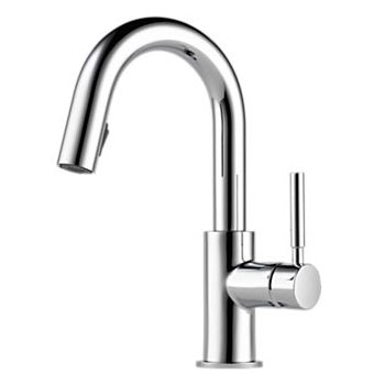 Brizo 63920LF-PC Solna Single Handle Pulldown Bar/Prep Faucet - Chrome