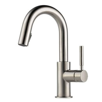 Brizo 63920LF-SS Solna Single Handle Pulldown Bar/Prep Faucet - Stainless