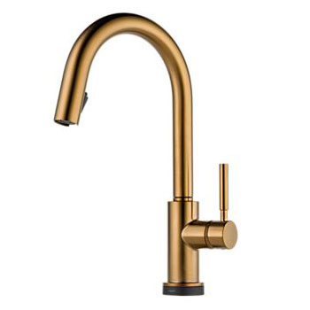 Brizo 64020LF-BZ Solna Single Handle Single Hole Pulldown Kitchen Faucet with SmartTouch Technology - Brushed Bronze