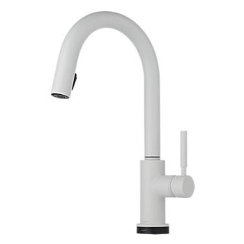 Brizo 64020LF-MW Solna Single Handle Single Hole Pulldown Kitchen Faucet with SmartTouch Technology - Matte White