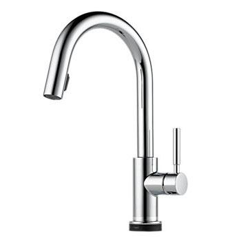 Brizo 64020LF-PC Solna Single Handle Single Hole Pulldown Kitchen Faucet with SmartTouch Technology - Chrome