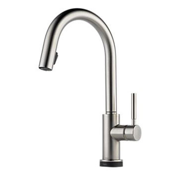 Brizo 64020LF-SS Solna Single Handle Single Hole Pulldown Kitchen Faucet with SmartTouch Technology - Stainless Steel