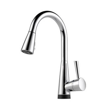 Brizo 64070LF-PC Venuto Single Handle Pull-Down Kitchen Faucet with SmartTouch Technology - Chrome