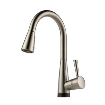 Brizo 64070LF-SS Venuto Single Handle Pull-Down Kitchen Faucet with SmartTouch Technology - Stainless