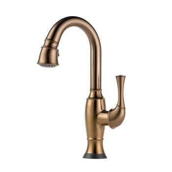 Brizo 64903LF-BZ Talo Single Handle Pull Down Bar/Prep Faucet with SmartTouch Technology - Brushed Bronze