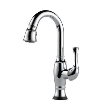 Brizo 64903LF-PC Talo Single Handle Pull Down Bar/Prep Faucet with SmartTouch Technology - Chrome
